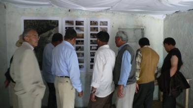 Presentation of museum design in THF site office 2008