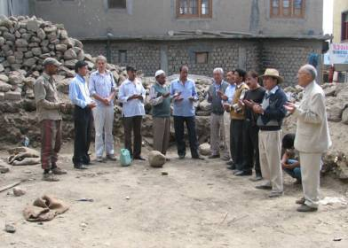 Puja for laying foundation stone of Central Asian Museum in Leh