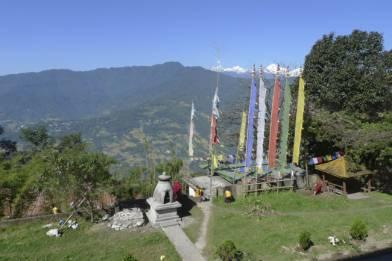 View of Kangchendzonga Mountains from Gangtok Tsuklakhang