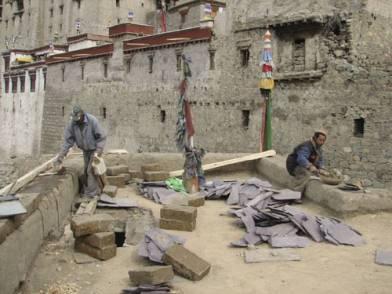 Leh artisans continue work on the Red Maitreya Temple