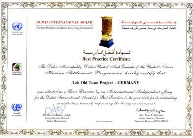 UN Habitat Dubai International Award for Best Practice for THF