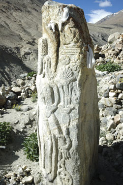 Maitreya in rock at Digar, Nubra