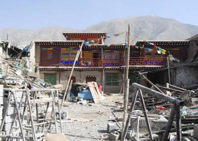 Gyatsongtsang House, Yushu May 2010 after the earthquake