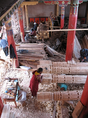 Structural rehabilitation of the Jokhang Assembly Hall (Yutaka Hirako 06).