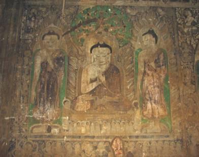13th century wall-painting, Tayok Phyi, Bagan (AA).