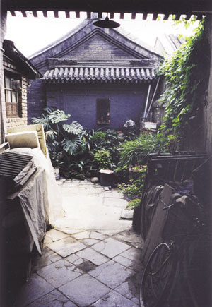 Beijing Si-he-yuan originally had trees and gardens in the interior courtyards (Yutaka 03)