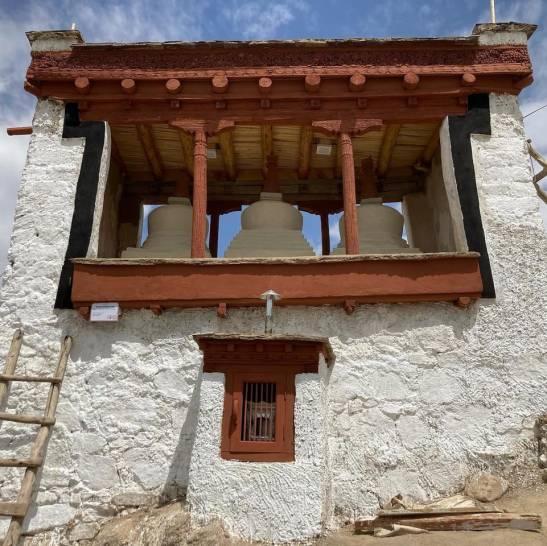 Rigsum Gonpo shine in Leh old town, restored in 2021.