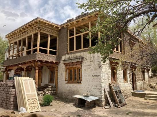 Restoration of Shel-Zimskhang in Sabu village, Ladakh in 2021
