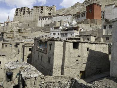 Panoramic view of Gotal House, Leh old town