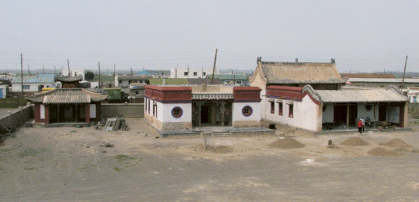 Panoramic view of the completed Sangiin Dalai monastery in Mongolia, restored by THF