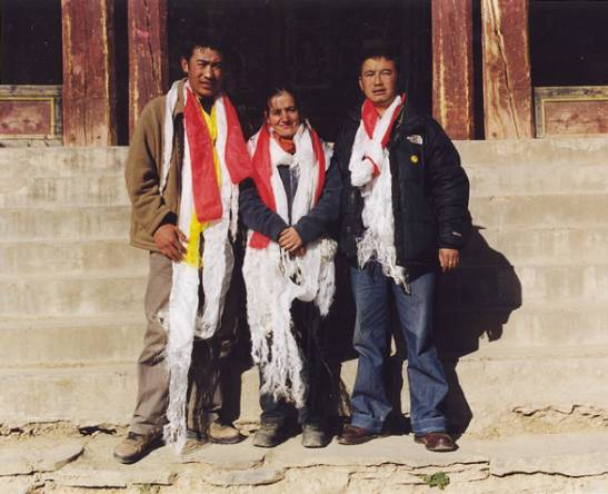 Beri Monastery, Lobsang with Pimpim and Nyima