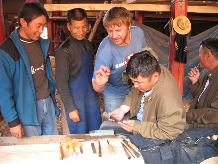 Mongolian artisans visiting Amdo with Lobsang and Danilo