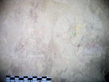 Damage type at historic Tibetan Buddhist wall-paintings in Serkhang monastery in Amdo