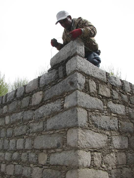 Tibetan-style walls for CAM
