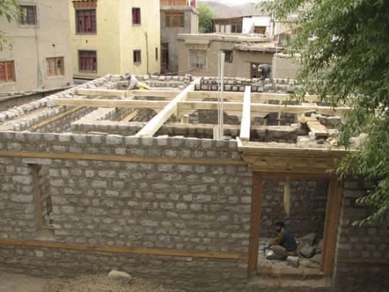 View of the ground floor in progress...