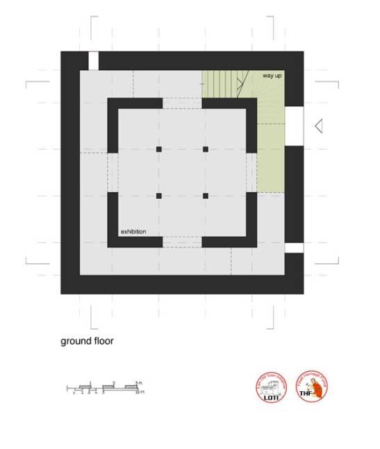 Ground floor plan, Central Asian Museum, design A. Alexander