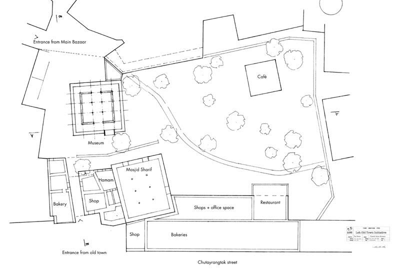Site plan Central Asian Museum Leh (THF).