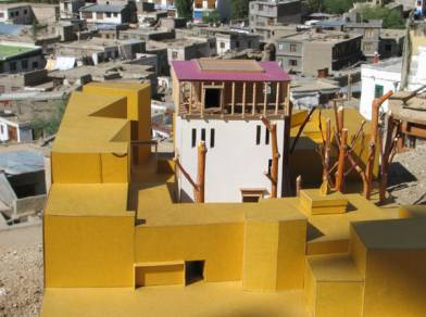 Model for the Central Asian Museum in Leh designed by THF