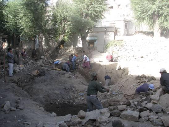 Digging for the foundation September 2008