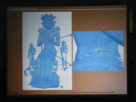 3D scan of Maitreya Buddha from Red Temple in Leh by INOE