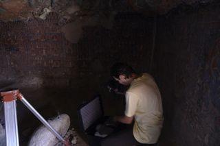 Dragos Ene at work in Sasspol cave