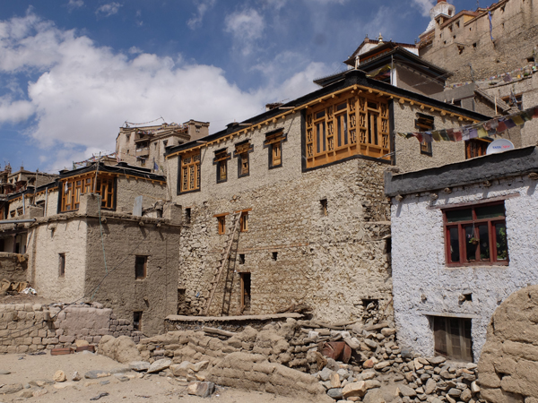 View of Dzomskit house after repair