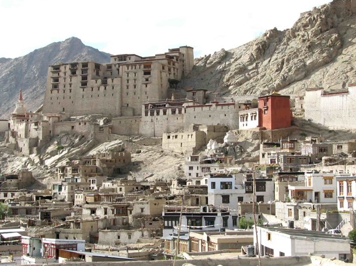 View of Leh old town and the 17th century palace