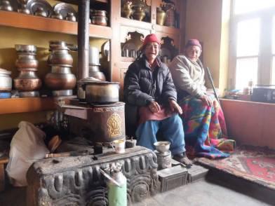 Tsering Lamstan house's owners, Ama Yuru and husband.