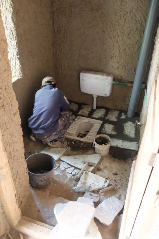 The innovative design was to be used for the water flush toilets in CAML.