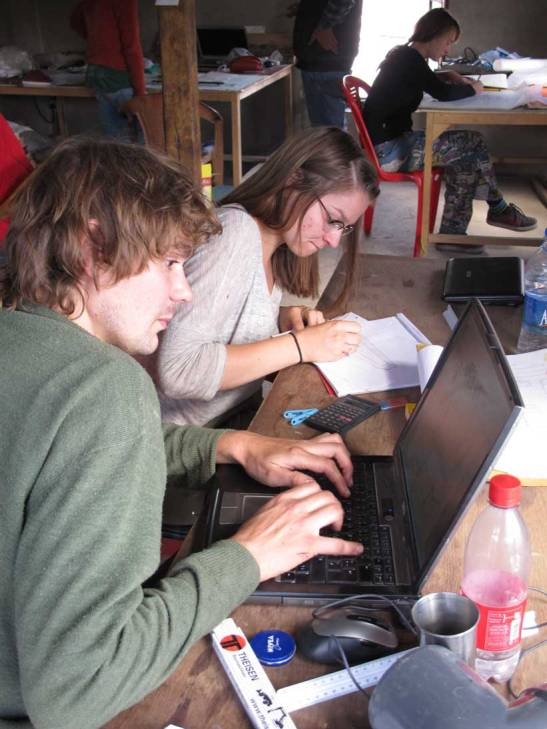 Ludwig and Julia designing the system at the THF/LOTI studio.