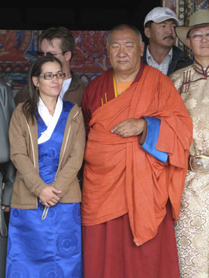Choijin Lama, the highest-ranking Rinpoche of Mongolia, attended the celebration.