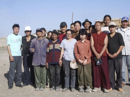 Sangiin Dalai team 2007 with Japanese volunteer Yayoi