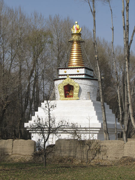 The World Peace Stupa designed and built by THF in Amdo