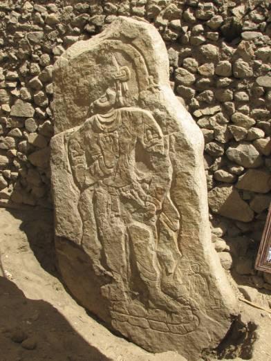Avalokiteshvara image carved on rock