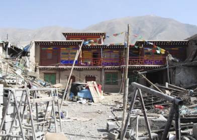 Gyatsongtsang House, Yushu May 2010 after the earthquake