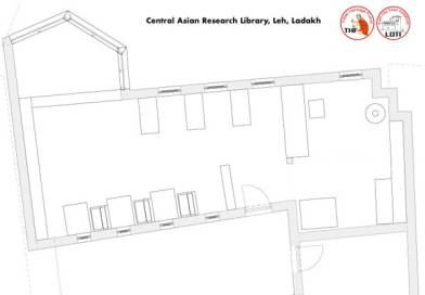 Floorplan Central Asian Research Library