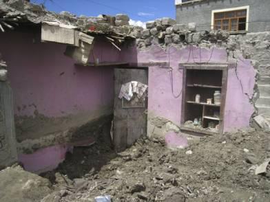 House in Ladakh damaged by flood