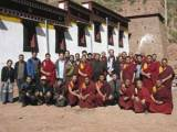 Ragya monks, local officials and the THF team celebrate the completion of the 4-year restoration project (THF).