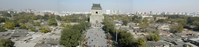 Panorama of historic Beijing with Bell Tower in foreground (THF02)