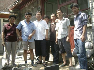 The team included THF staff L. Dorje, local residents, local government and traditional artisans