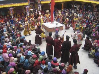 Celebration of Guru Tsechu festival with Cham dance at Stok (K. Rafstan 06)