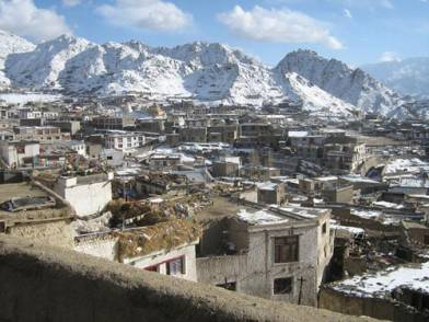 Leh, historic capital of Ladakh, in winter (Konchok Rafstan 07)