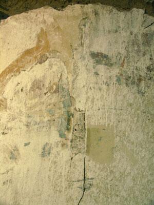 Mahakala on west wall, original condition