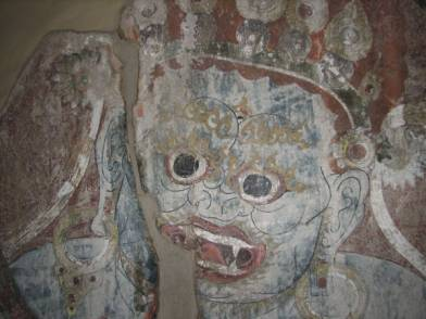 Mahakala, after cleaning, stabilization and filling of cracks