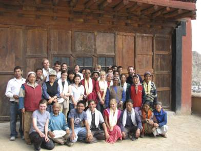 The 2007 team on the roof of the Red Maitreya temple