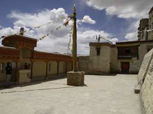 Paving of Gonpa Soma courtyard completed in 2008