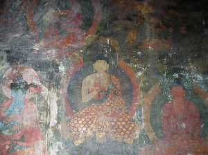 portion of the west wall, with representation of the 35 Buddhas of confession